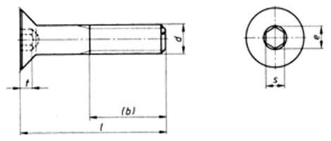 ISO 10642 : Hexagon Socket Countersunk Head Cap Screws, Metric Size